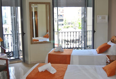 Chambre double hostal san lorenzo madrid